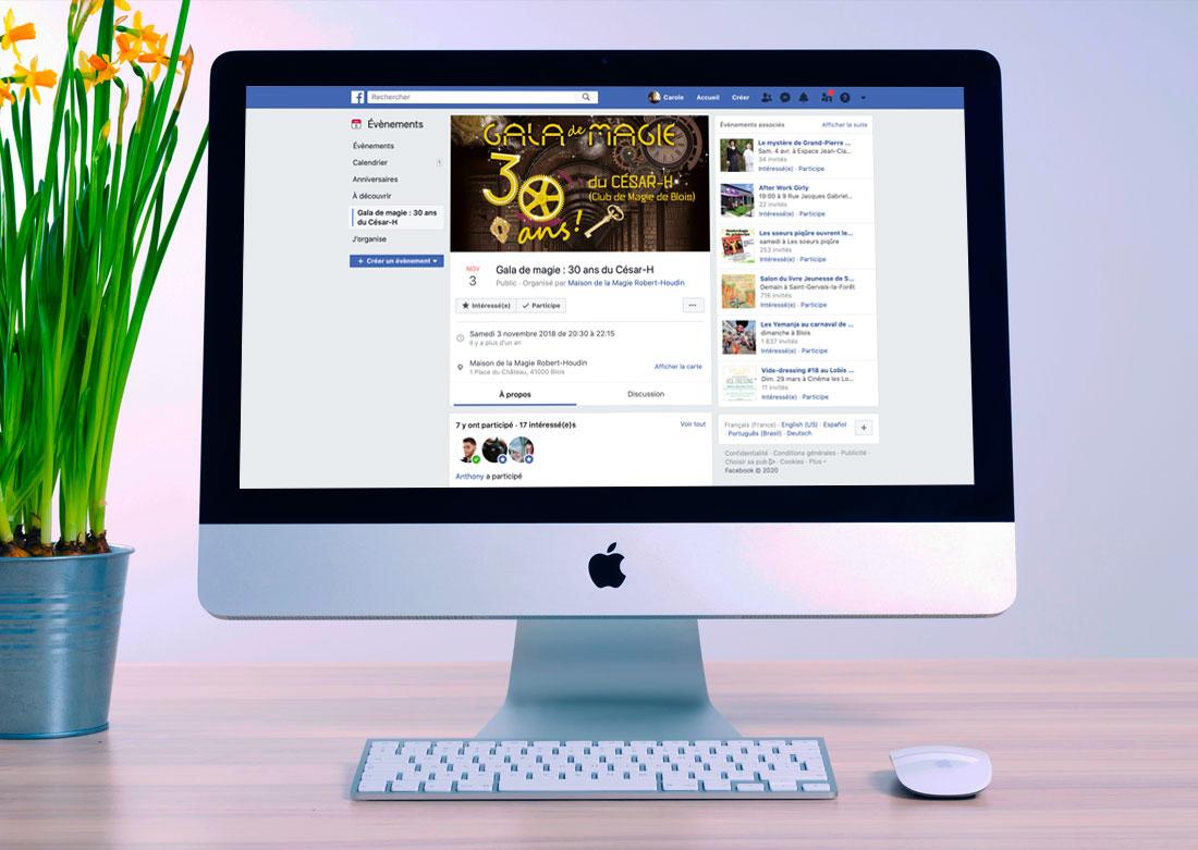 Évènement Facebook