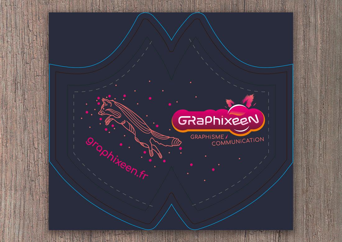 Masque personnalisé Graphixeen - Fichier pour impression