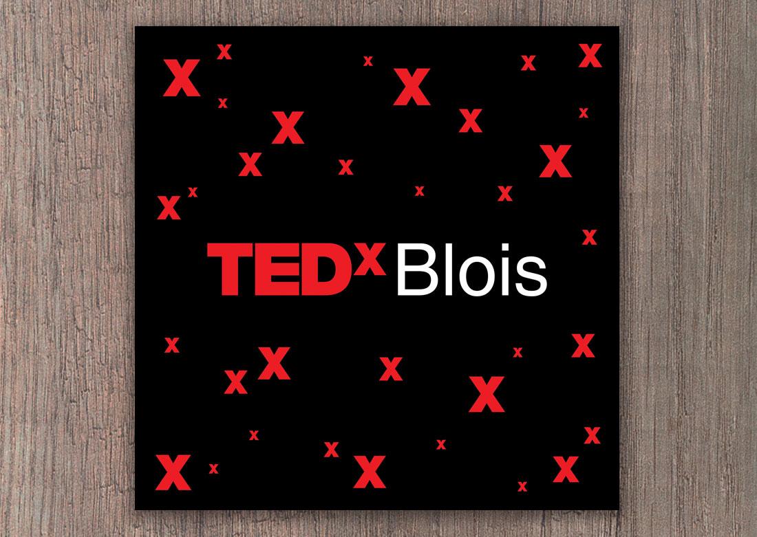 Masque personnalisé TEDx - Visuel fourni pour l'impression