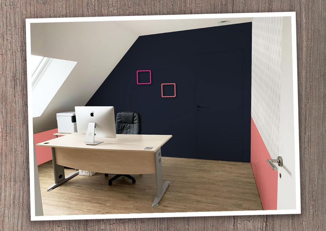 Décoration intérieure bureau - Montage photo