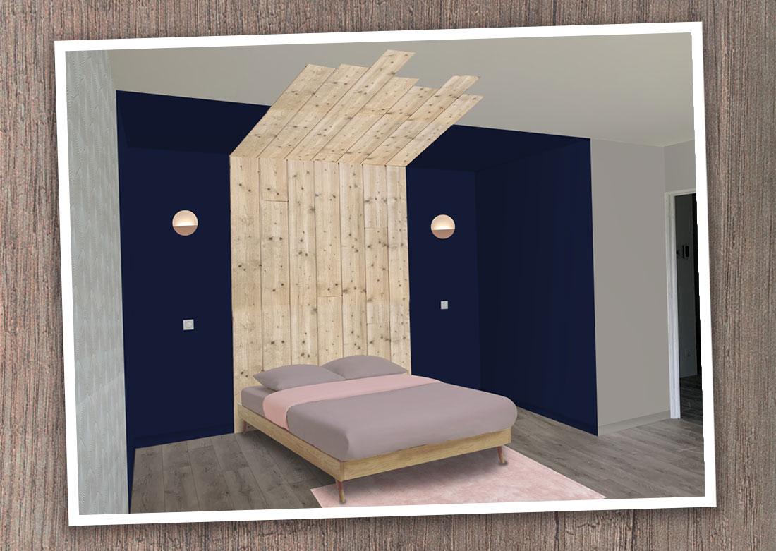 Décoration intérieure chambre - Montage photo