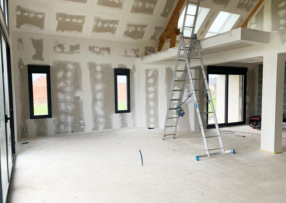 Décoration intérieure salon séjour - Photo avant montage