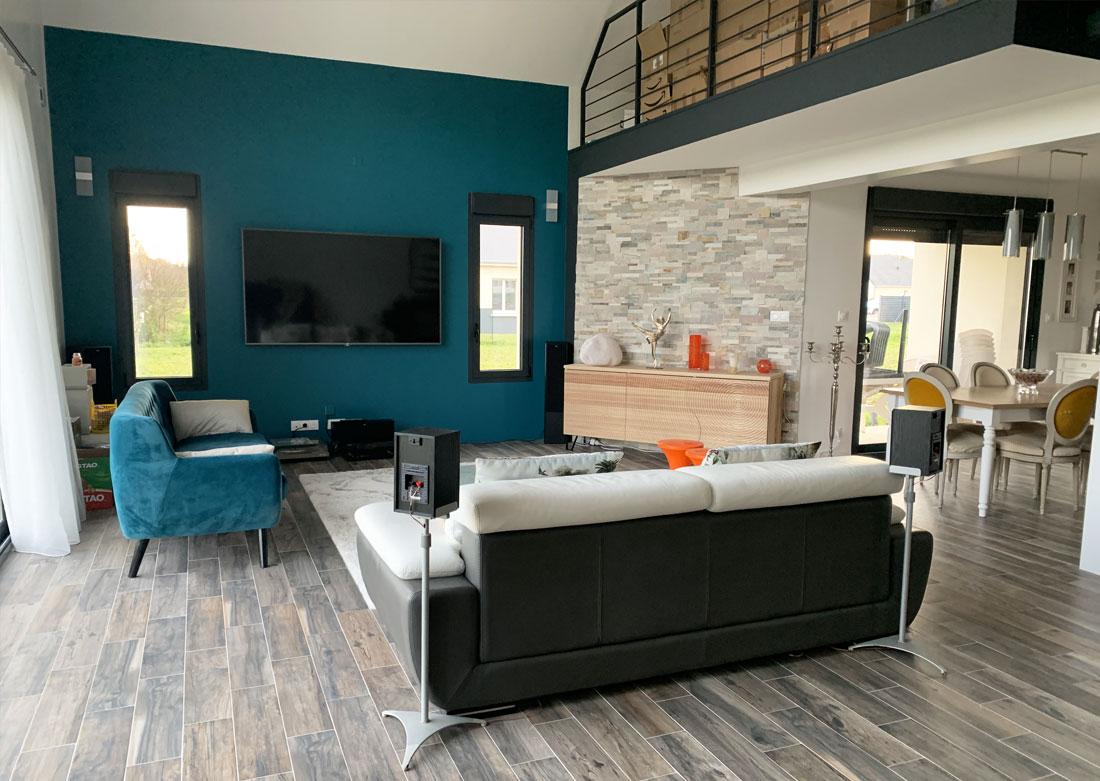 Décoration intérieure salon séjour - Photo de la réalisation