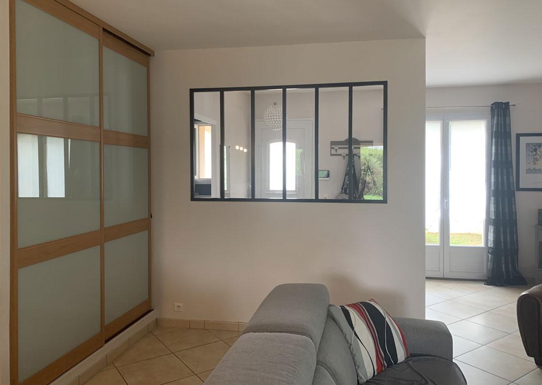Décoration intérieure salon - Photo avant montage
