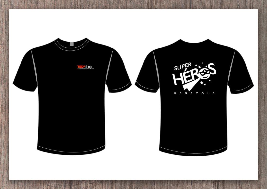 T-shirt personnalisé TEDx dos et derrière