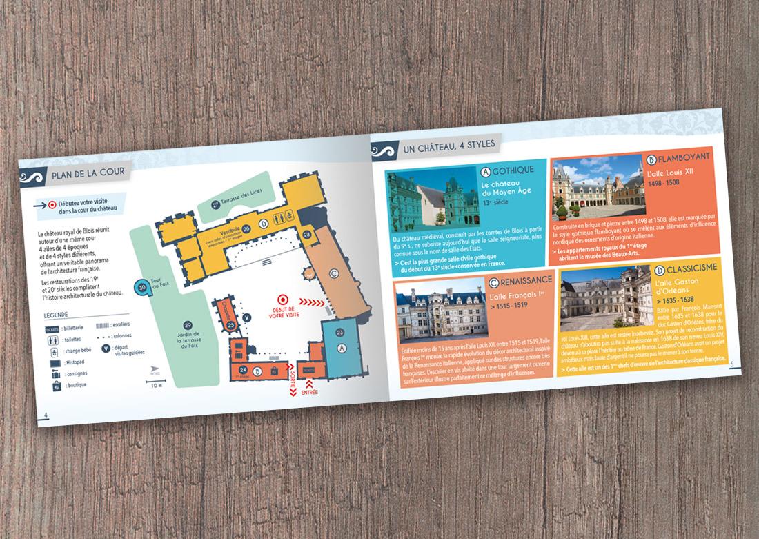 Brochure de visite - Double page intérieure