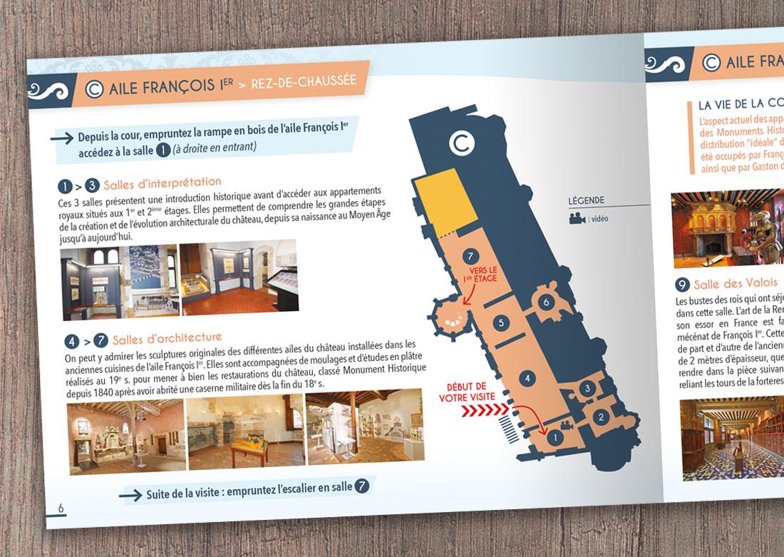 Brochure de visite - Double page intérieure zoom