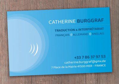 Carte de visite Mme BURGGRAF