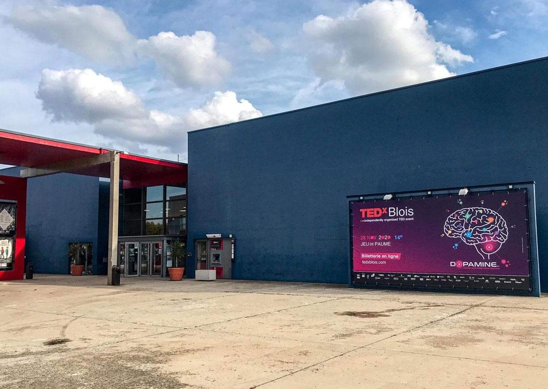 Identité visuelle TEDx 2020 - Bâche à Cap Ciné Blois