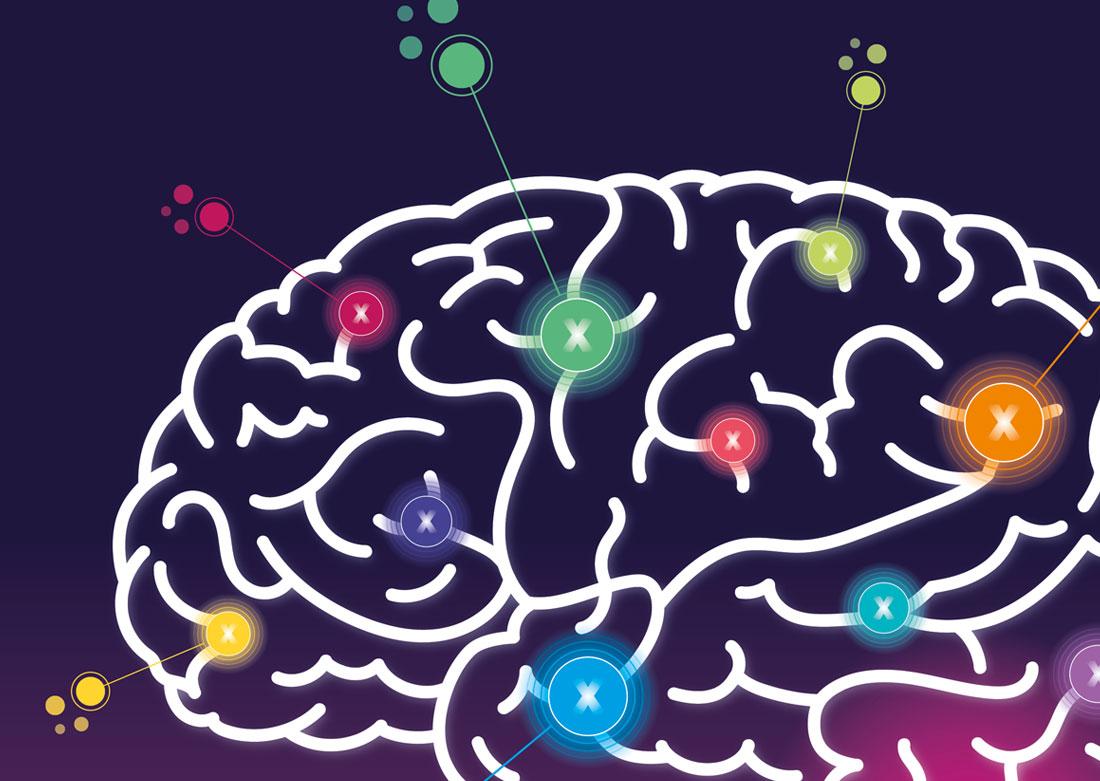 Identité visuelle TEDx 2020 - Zoom sur le dessin du cerveau