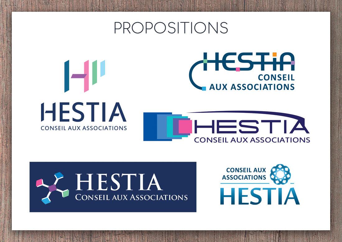 Présentation de 5 propositions de logos