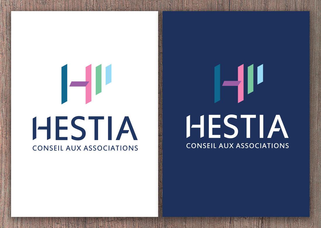 Déclinaison du logo en version texte blanc sur fond foncé