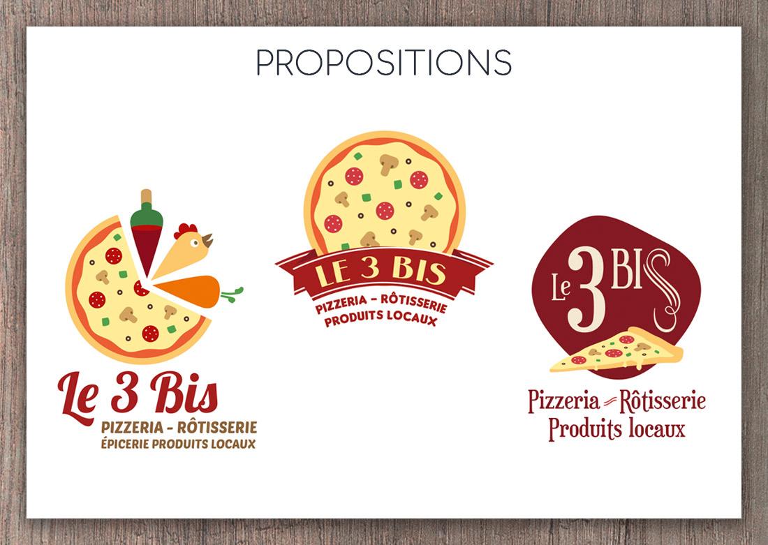 Proposition de 3 pistes de logos