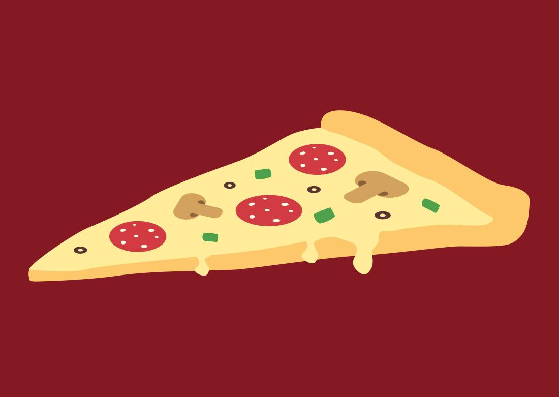 Une partie du logo : part de pizza